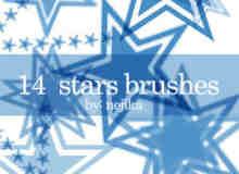 14种矢量星星笔刷
