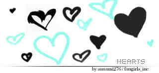 随意手绘爱心符号笔刷