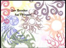 太阳花纹笔刷