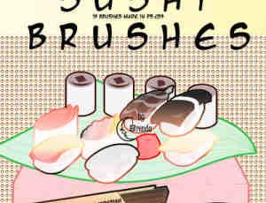 日本的寿司笔刷