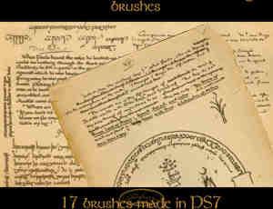 托尔金的手写文字效果笔刷