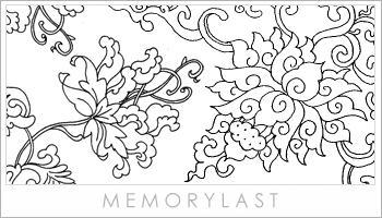 传统百花盛开型线条笔刷
