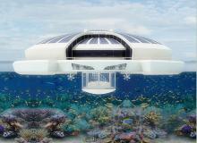 12张设计前卫的太阳能浮船度假村构造效果图