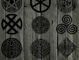 凯尔特族符号徽章笔刷