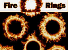 6种火圈燃烧效果笔刷