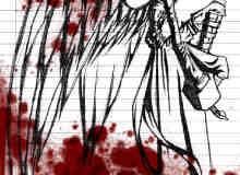 一场战斗的血迹笔刷