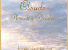 傍晚天空中的云彩笔刷