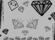 可爱的卡通手绘钻石笔刷