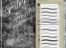14种垃圾纹理效果笔刷