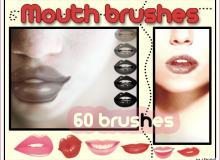 60个不同样式的唇印吻痕笔刷