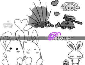 可爱的兔子与乌龟笔刷