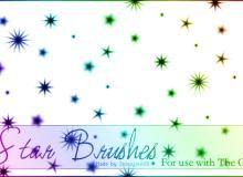 七彩闪耀的星星背景笔刷