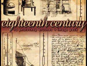 十八世纪元素场景笔刷