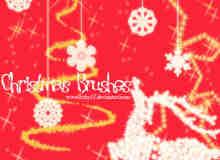 闪烁的圣诞节笔刷