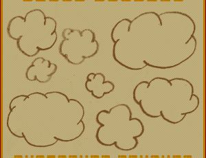 可爱的卡通手绘云朵笔刷