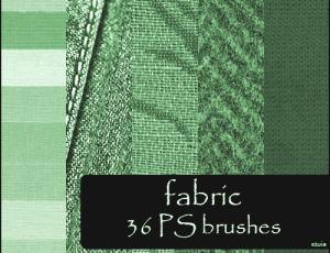 36种棉麻布匹纹理效果笔刷下载