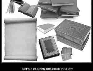 20本图书书籍笔刷