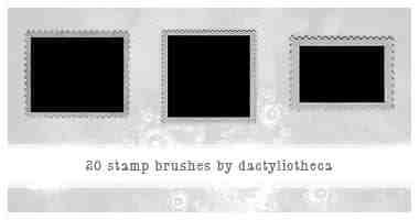 邮票背景笔刷