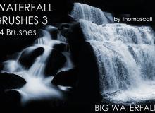 大瀑布水流效果笔刷