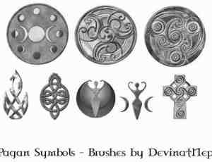 异端教徒的宗教信仰符号笔刷