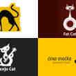 28种融入了猫元素的Logo标志设计