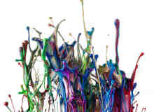 43张彩色颜料液体的瞬间摄影照片