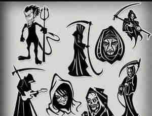 卡通式死神恶魔笔刷