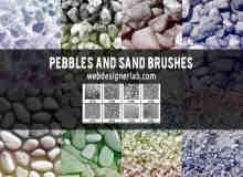 高品质砂石沙砾笔刷下载