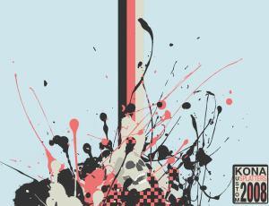 高品质的油漆液体飞溅效果笔刷