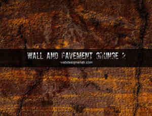 墙壁与路面的纹理效果笔刷