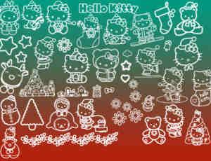 Hello Kitty圣诞节猫猫笔刷下载