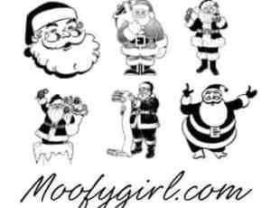 卡通造型的圣诞老公公笔刷