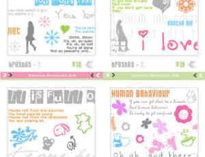 简单的爱情涂鸦装饰符号笔刷