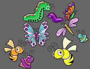 卡通昆虫笔刷下载