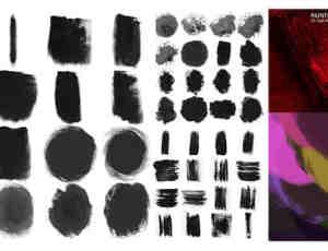 55种墨迹效果photoshop笔刷素材