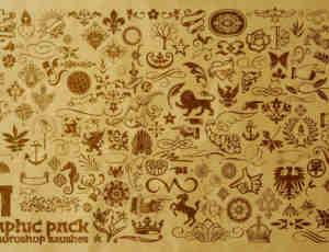 152种简单复古式符号笔刷