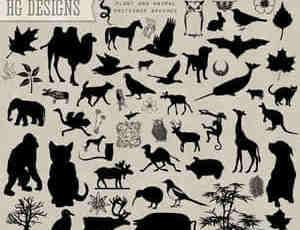 矢量动物图案笔刷
