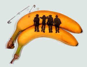 独特的香蕉纹身艺术