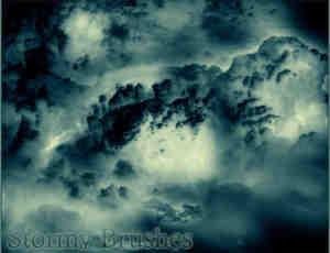 风雨欲来的天空云朵笔刷