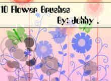 10种简约不简单的花卉笔刷