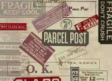 邮戳与标牌笔刷