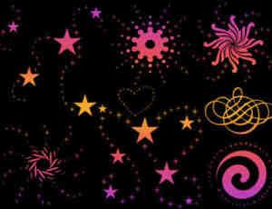 星星印花花纹装饰GIMP笔刷