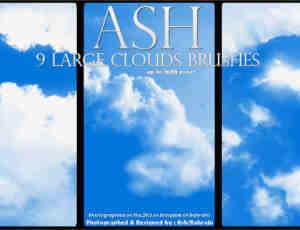 阳光明媚的云朵天空笔刷