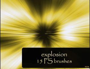 爆炸式刺眼的光线笔刷