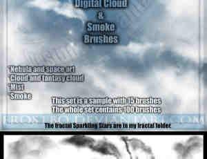 Photoshop星云和烟雾效果笔刷