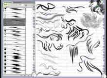卡通式手绘毛发卷发笔刷