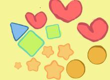 简单的星形三角形爱心符号笔刷