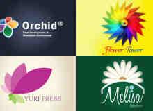 26个各式花的主题logo设计