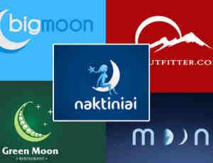 20个月球月亮式logo设计范例