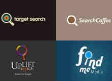 24个搜索主题放大镜logo标志设计